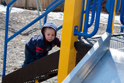 Toddler Play at the Park (Motherhood Looms)